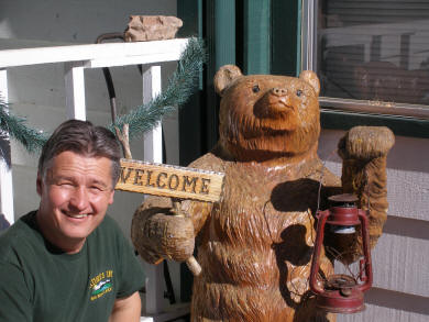 ED and Natures Inn Welcome Bear